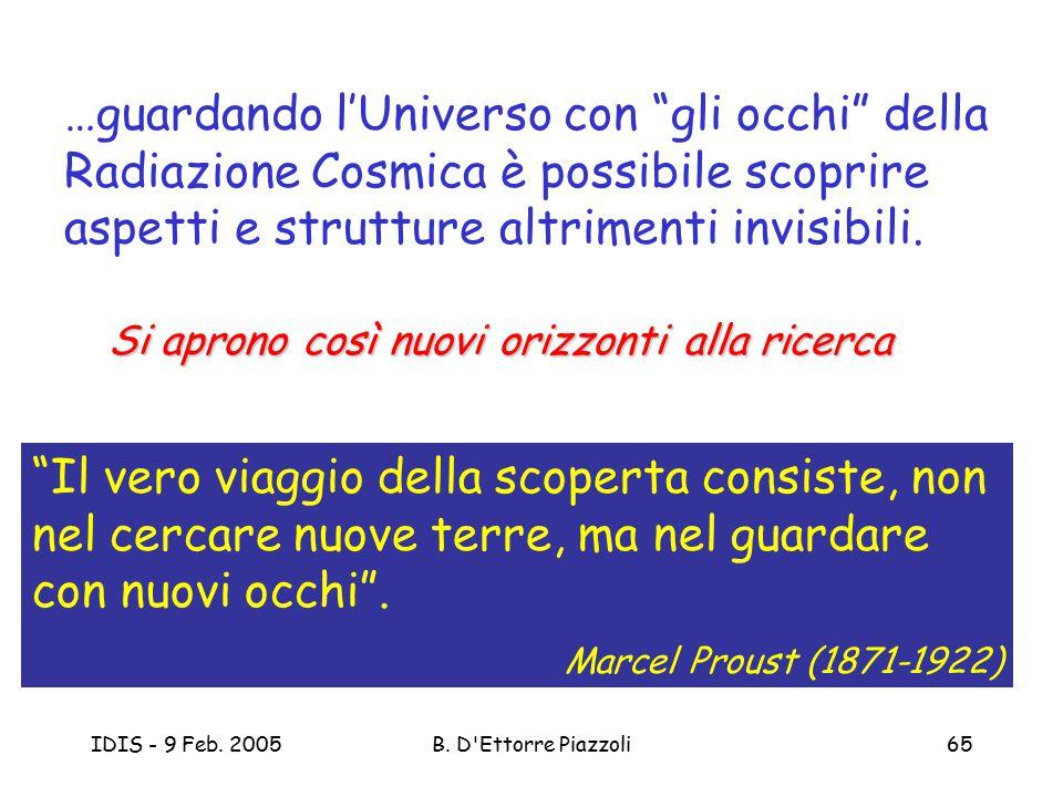 …guardando l'Universo con gli occhi della Radiazione Cosmica è possibile scoprire aspetti e strutture altrimenti invisibili.