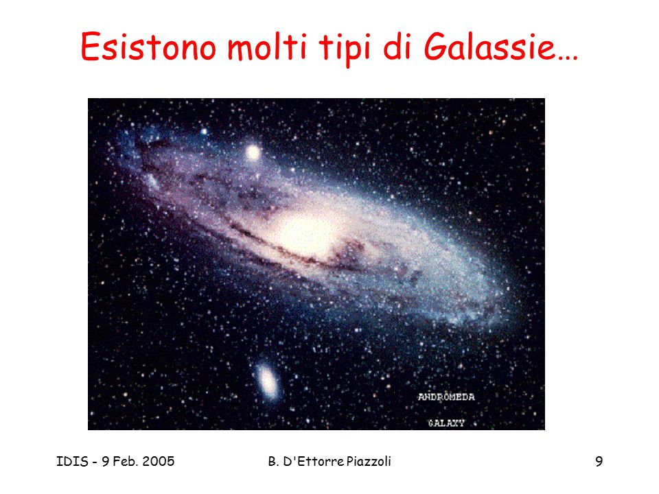 Esistono molti tipi di Galassie…