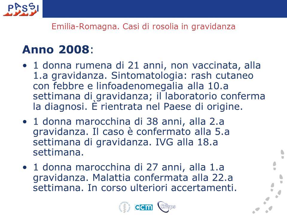 Emilia-Romagna. Casi di rosolia in gravidanza