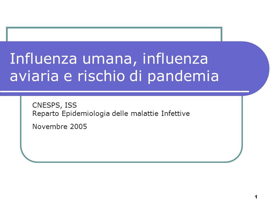 Influenza umana, influenza aviaria e rischio di pandemia
