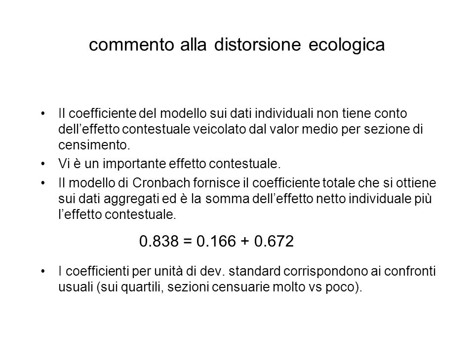 commento alla distorsione ecologica