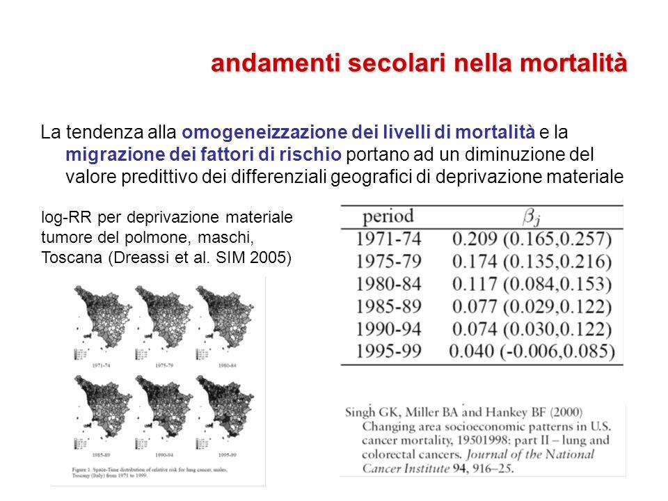 andamenti secolari nella mortalità