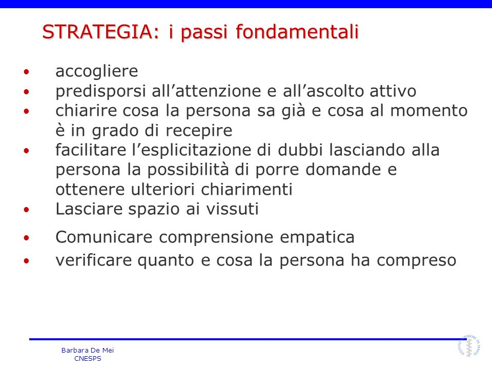 STRATEGIA: i passi fondamentali