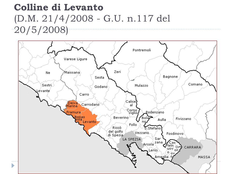 Colline di Levanto (D.M. 21/4/2008 - G.U. n.117 del 20/5/2008)