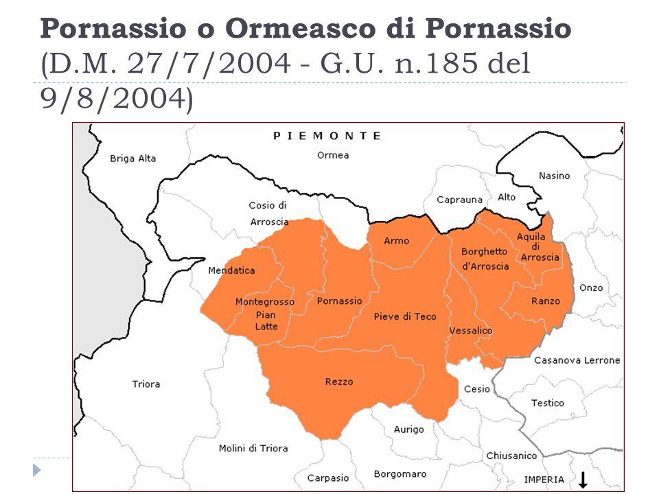 Pornassio o Ormeasco di Pornassio (D. M. 27/7/2004 - G. U. n