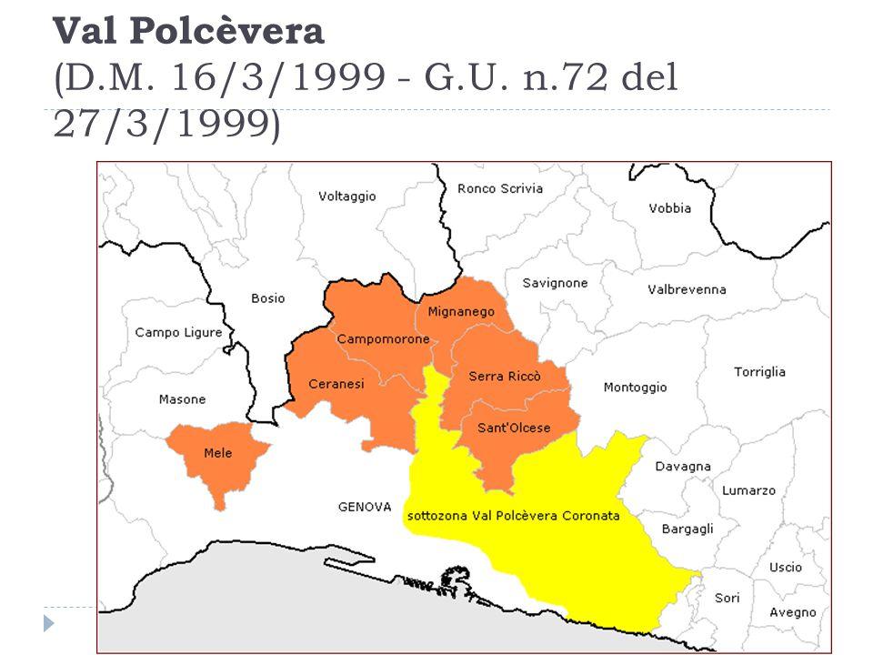 Val Polcèvera (D.M. 16/3/1999 - G.U. n.72 del 27/3/1999)