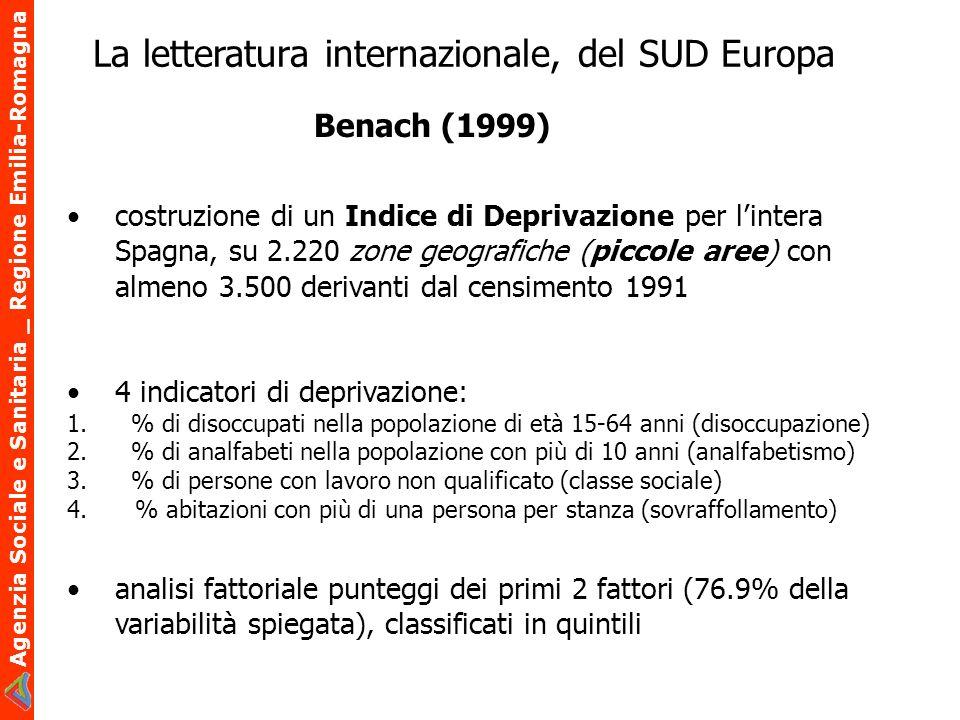 La letteratura internazionale, del SUD Europa