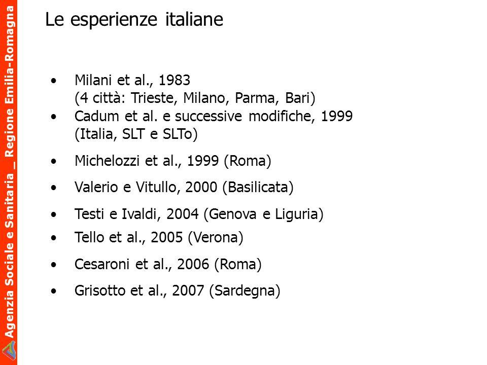 Le esperienze italiane