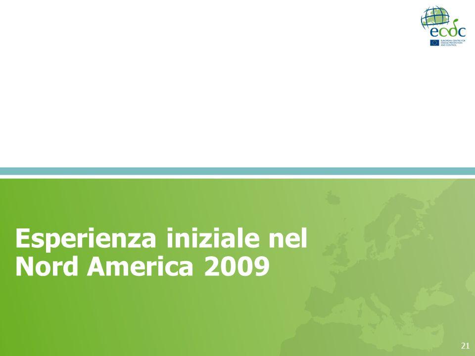 Esperienza iniziale nel Nord America 2009