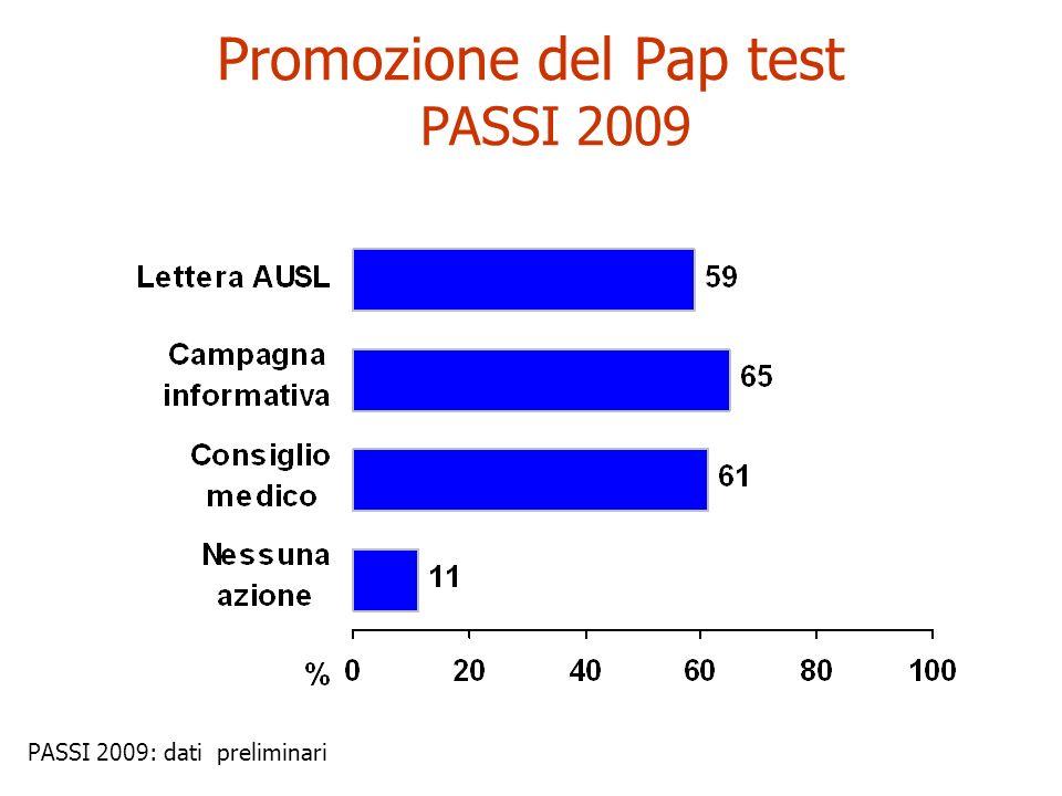 Promozione del Pap test PASSI 2009