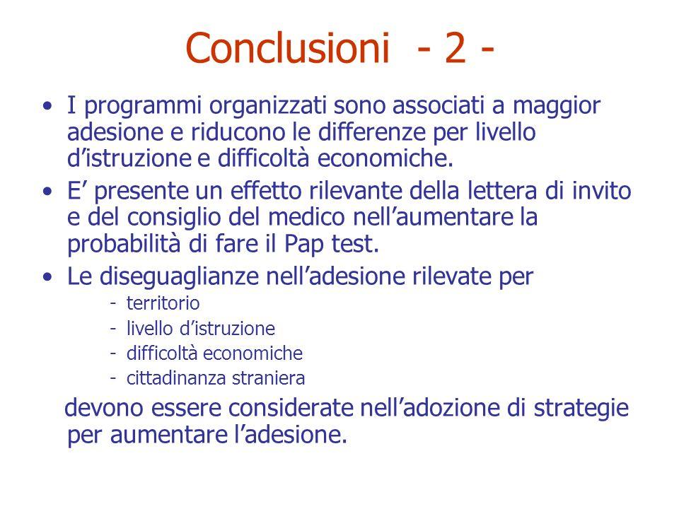 Conclusioni - 2 -
