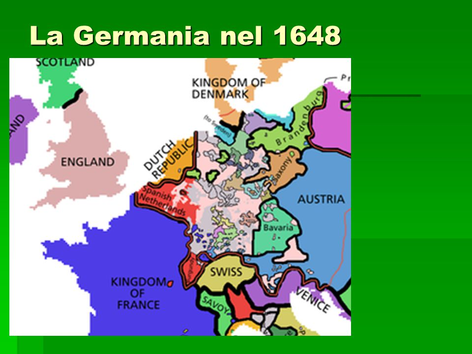 La Germania nel 1648