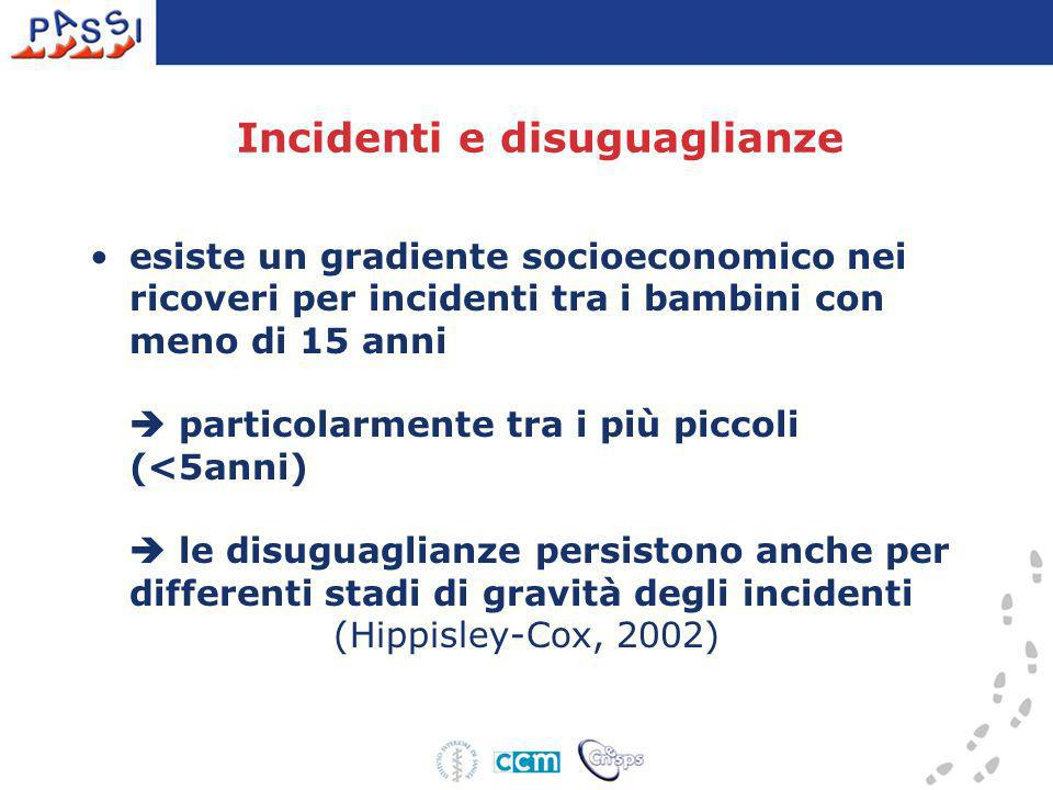 Incidenti e disuguaglianze