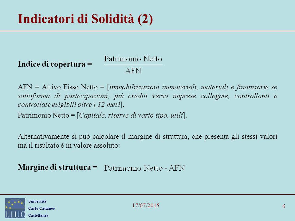 Indicatori di Solidità (2)