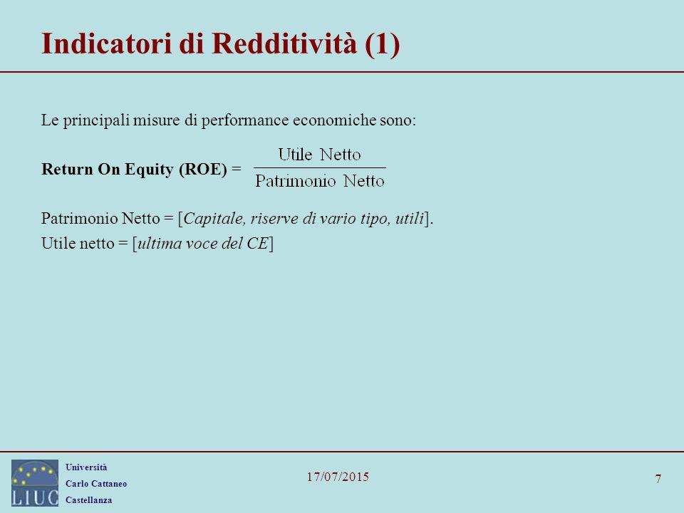 Indicatori di Redditività (1)