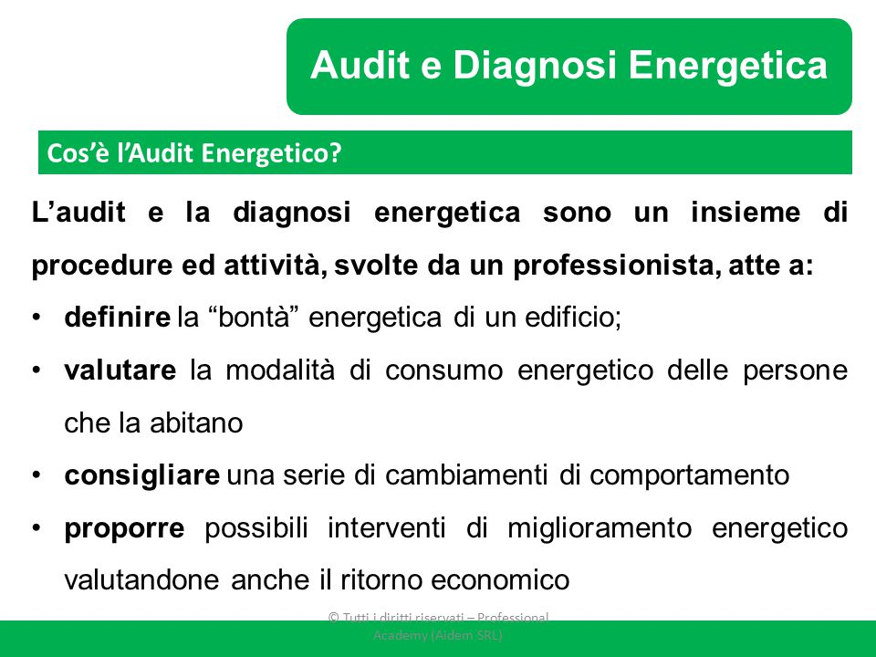 Audit e Diagnosi Energetica