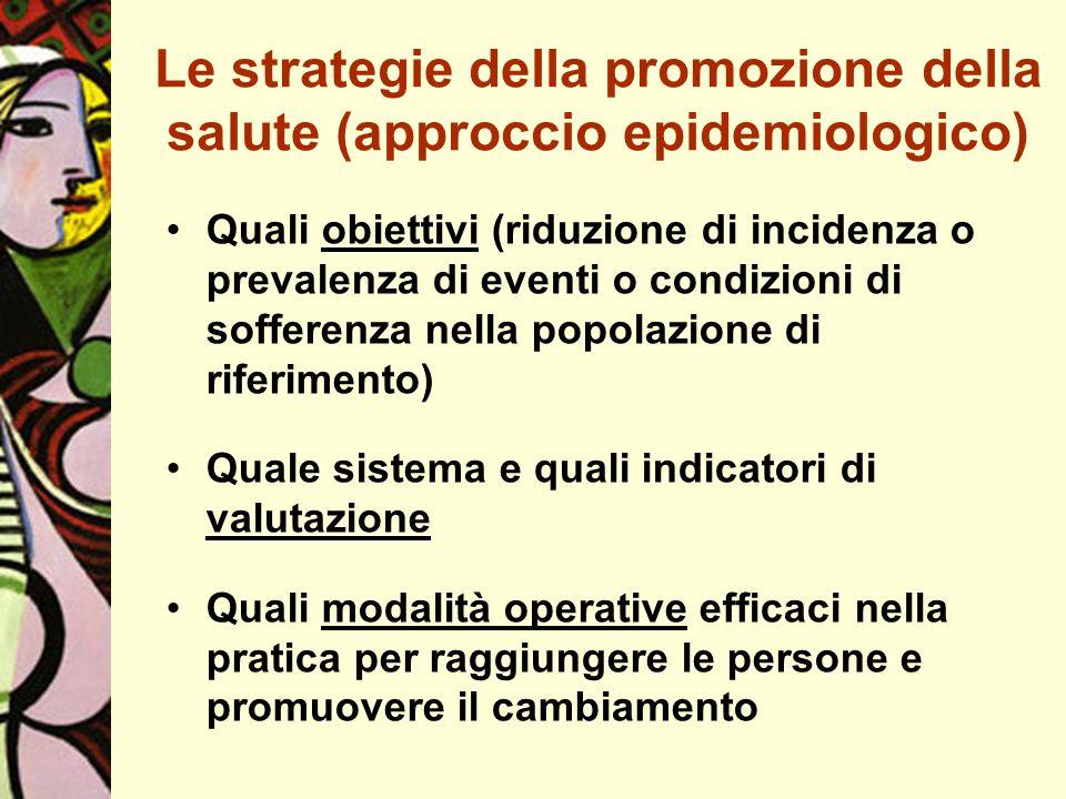 Le strategie della promozione della salute (approccio epidemiologico)