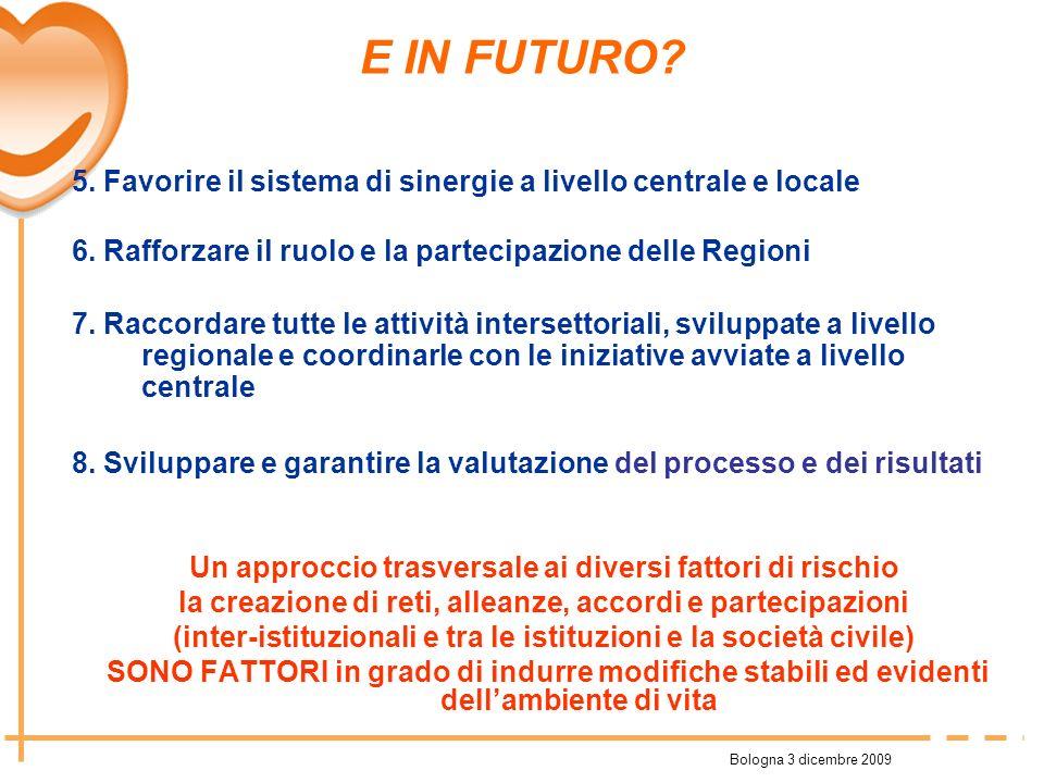 Ad esempio… Regioni: recepimento del programma