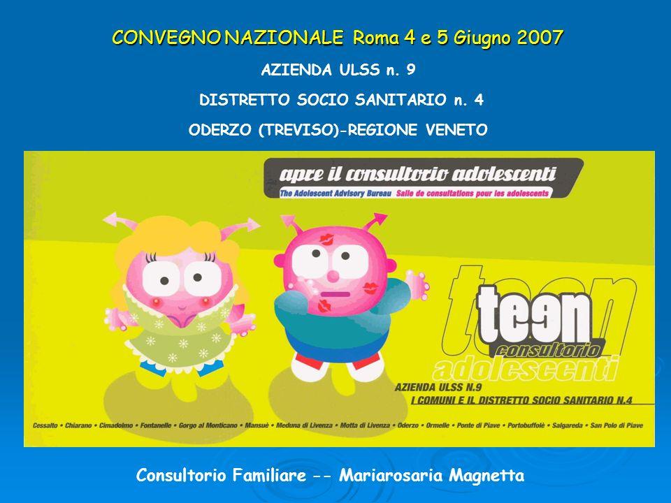 CONVEGNO NAZIONALE Roma 4 e 5 Giugno 2007