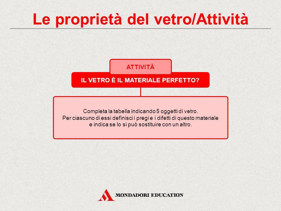 Le proprietà del vetro/Attività