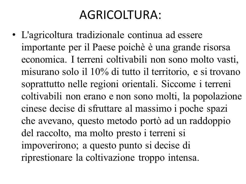 AGRICOLTURA: