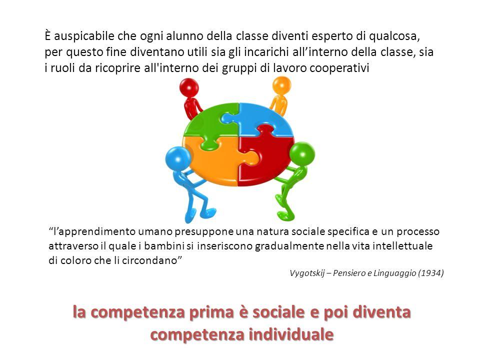 la competenza prima è sociale e poi diventa competenza individuale