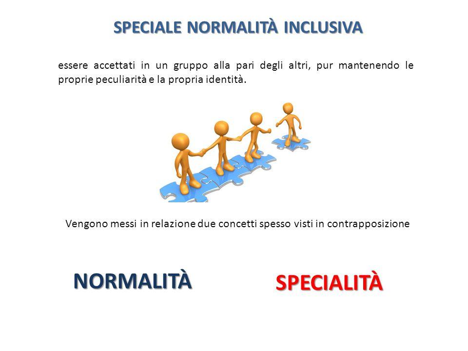 NORMALITÀ SPECIALITÀ SPECIALE NORMALITÀ INCLUSIVA
