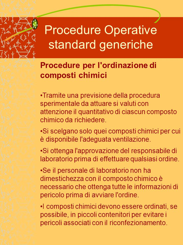 Procedure Operative standard generiche