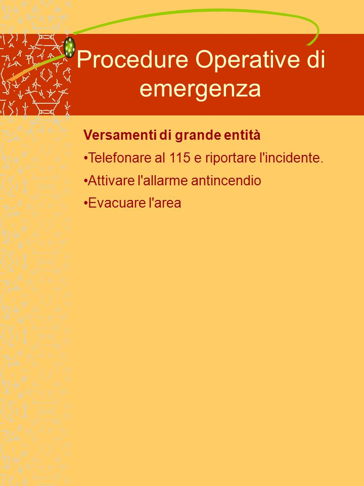 Procedure Operative di emergenza