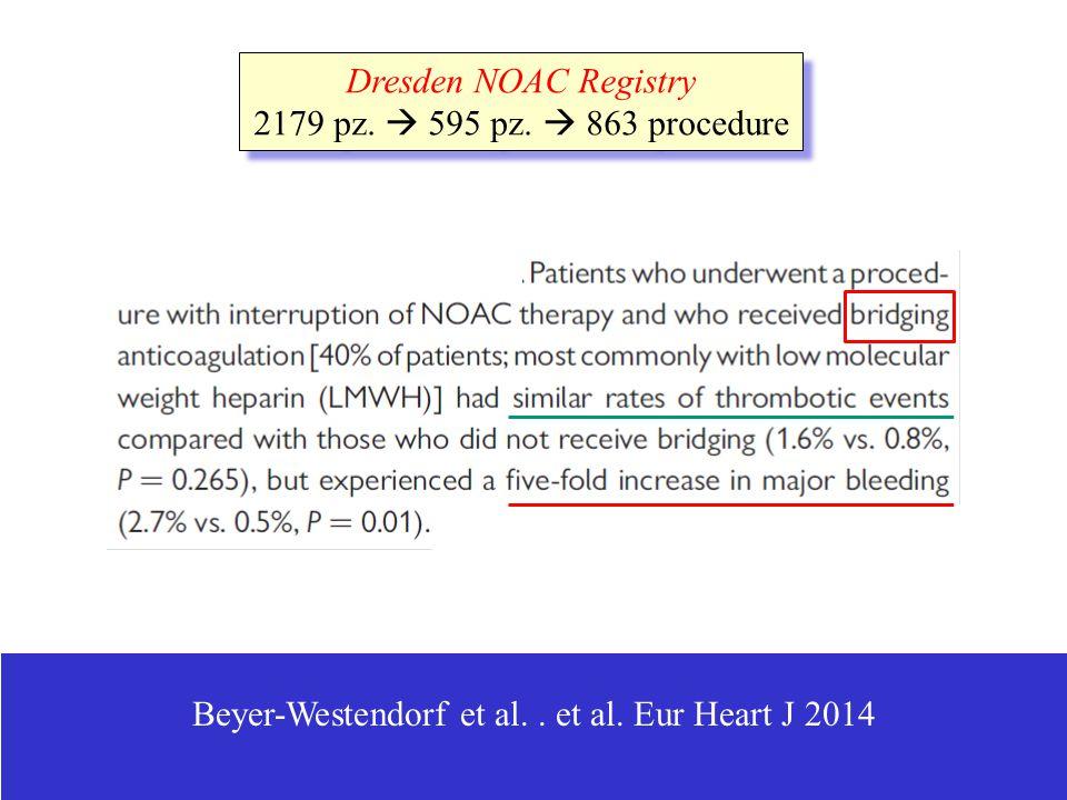 Beyer-Westendorf et al. . et al. Eur Heart J 2014