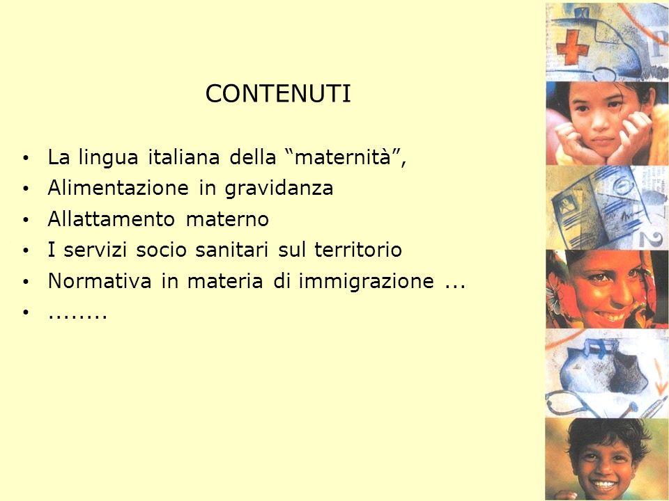 CONTENUTI La lingua italiana della maternità ,