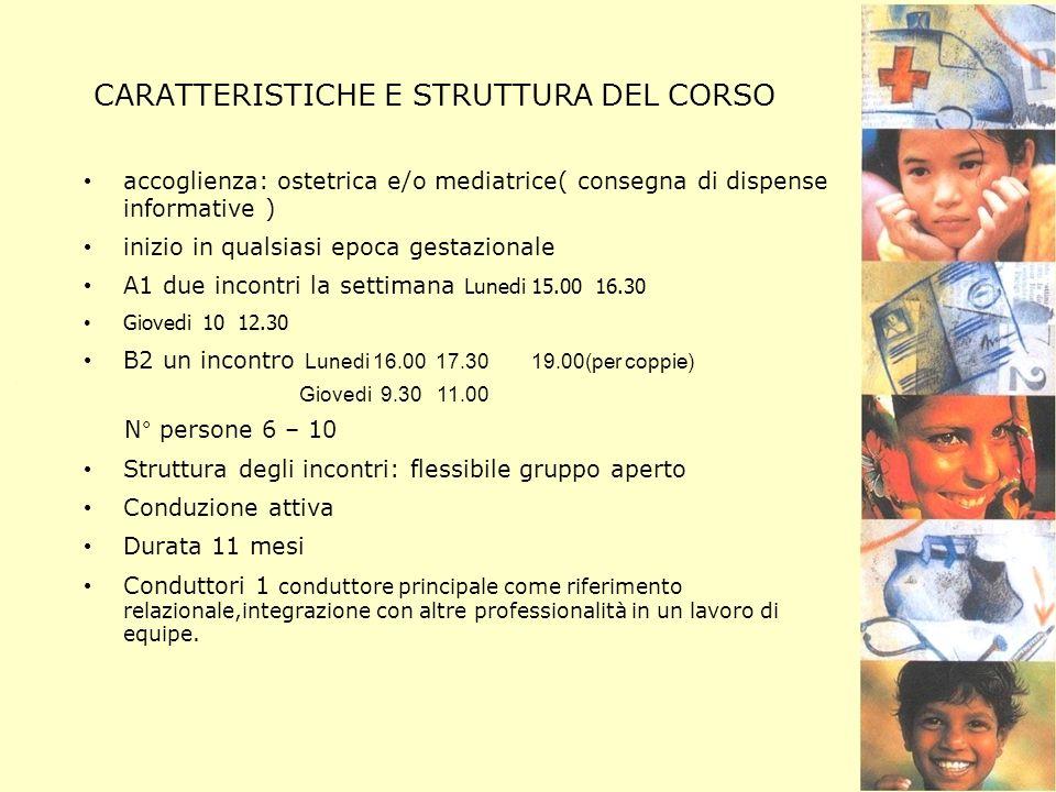 CARATTERISTICHE E STRUTTURA DEL CORSO