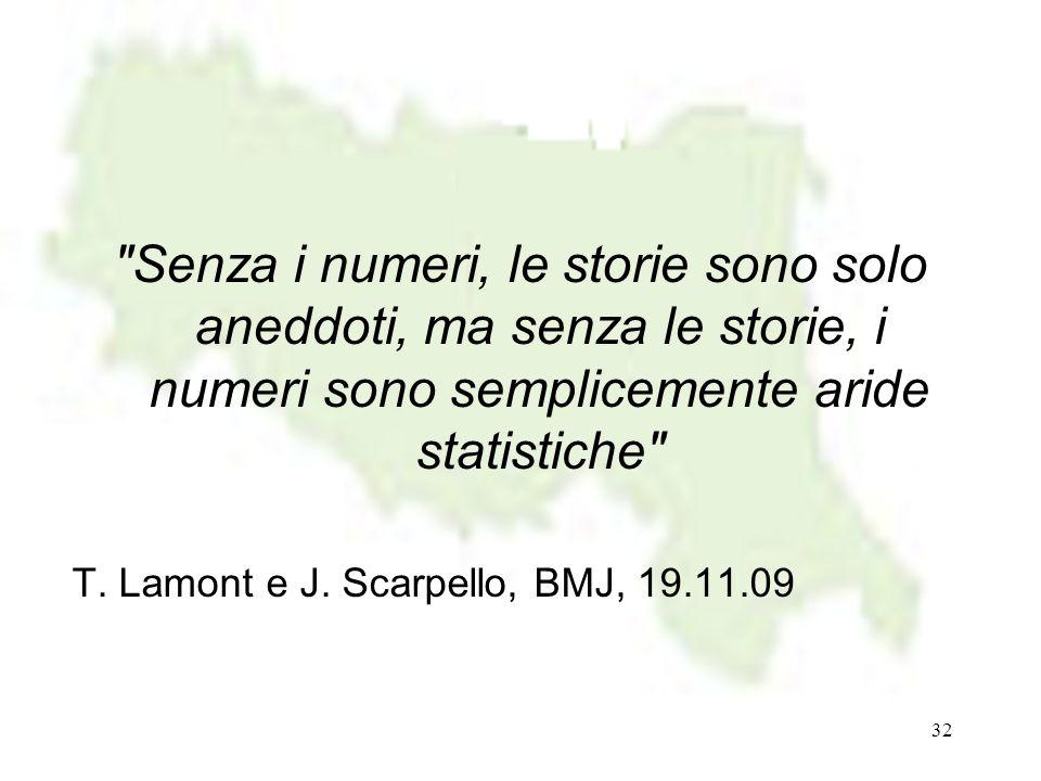 Senza i numeri, le storie sono solo aneddoti, ma senza le storie, i numeri sono semplicemente aride statistiche