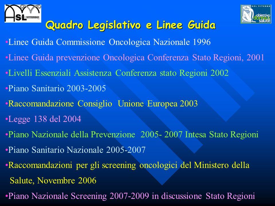 Quadro Legislativo e Linee Guida