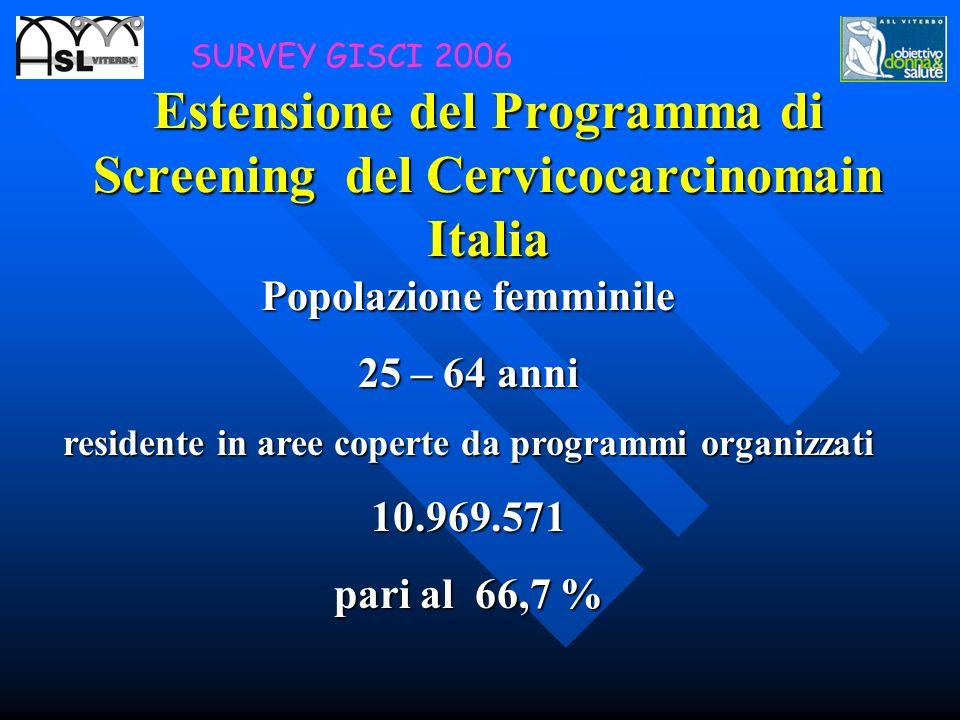 Estensione del Programma di Screening del Cervicocarcinomain Italia