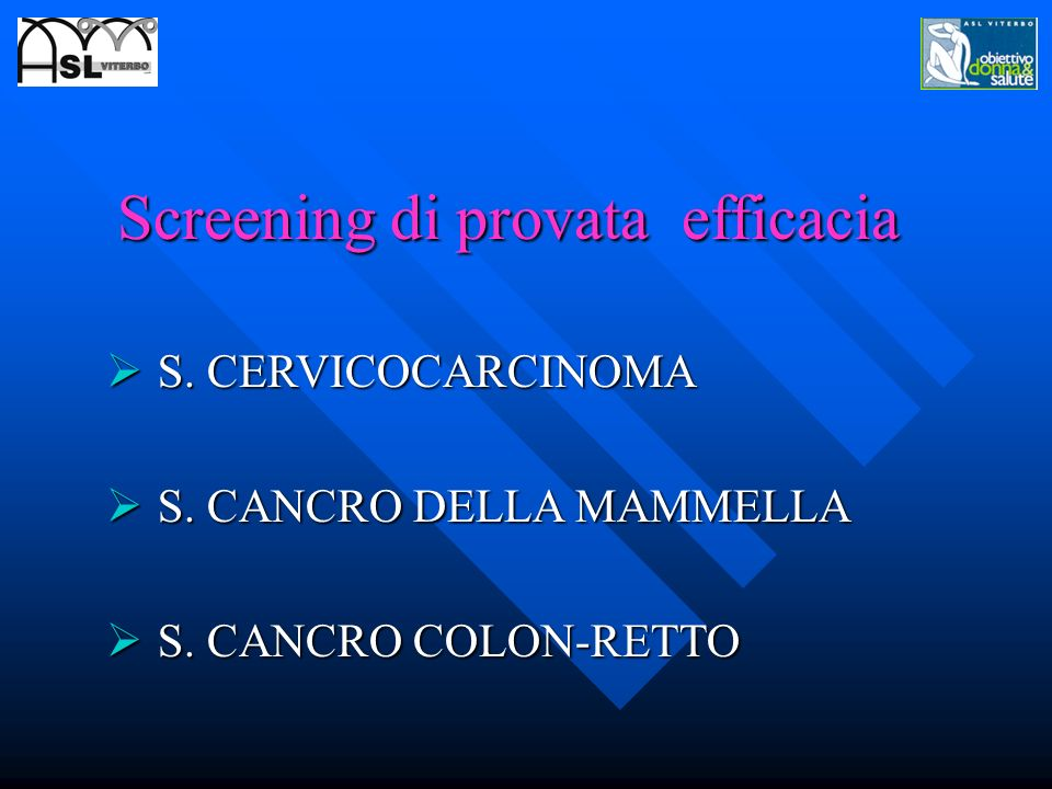 Screening di provata efficacia