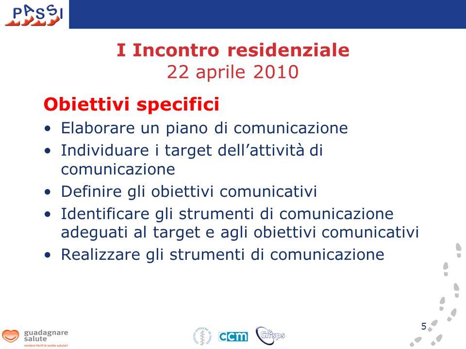 I Incontro residenziale 22 aprile 2010