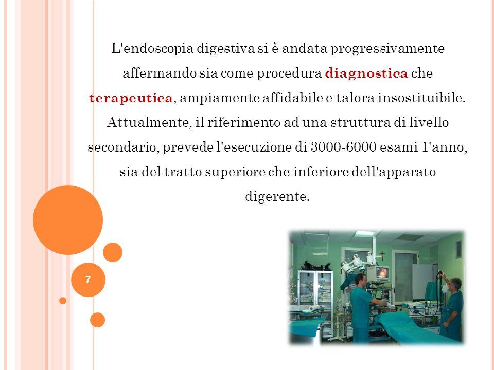L endoscopia digestiva si è andata progressivamente affermando sia come procedura diagnostica che terapeutica, ampiamente affidabile e talora insostituibile.