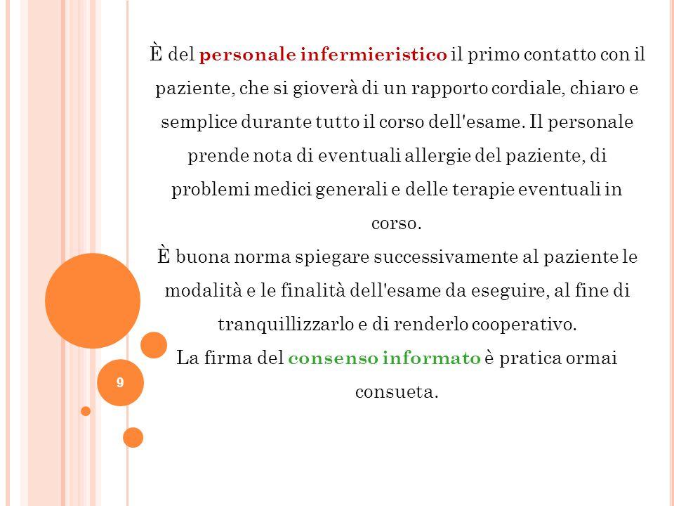 La firma del consenso informato è pratica ormai consueta.