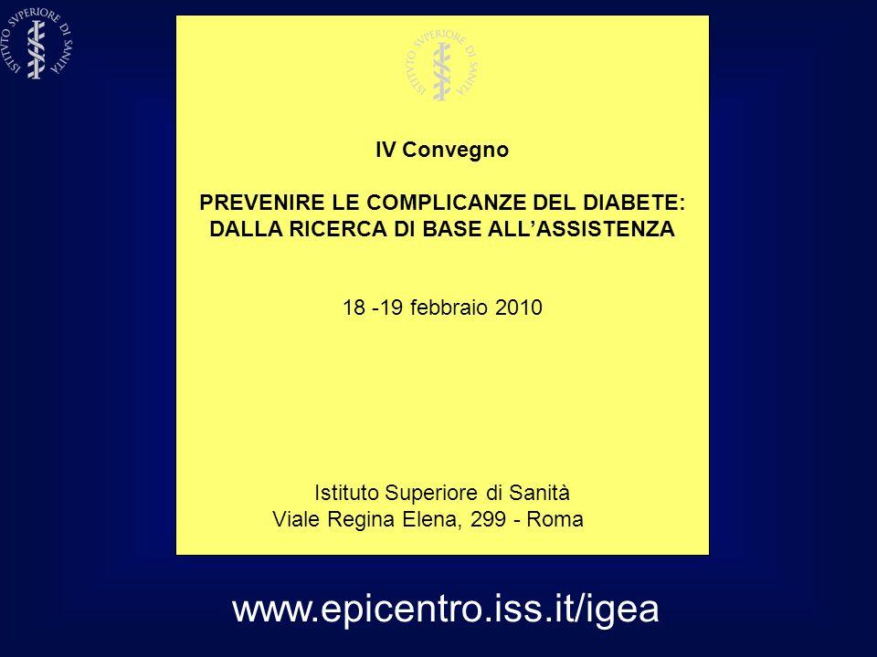 www.epicentro.iss.it/igea IV Convegno