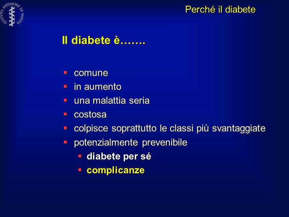 Il diabete è……. Perché il diabete comune in aumento una malattia seria
