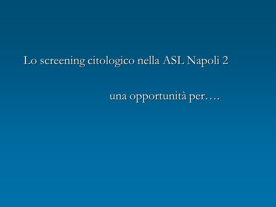 Lo screening citologico nella ASL Napoli 2