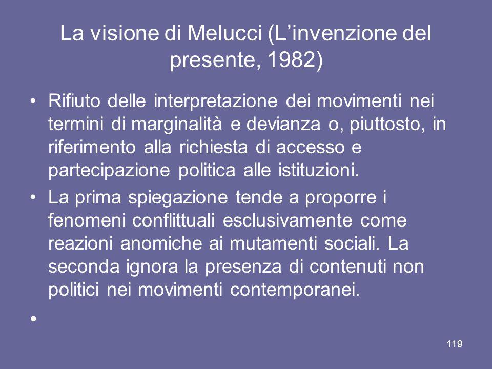 La visione di Melucci (L'invenzione del presente, 1982)