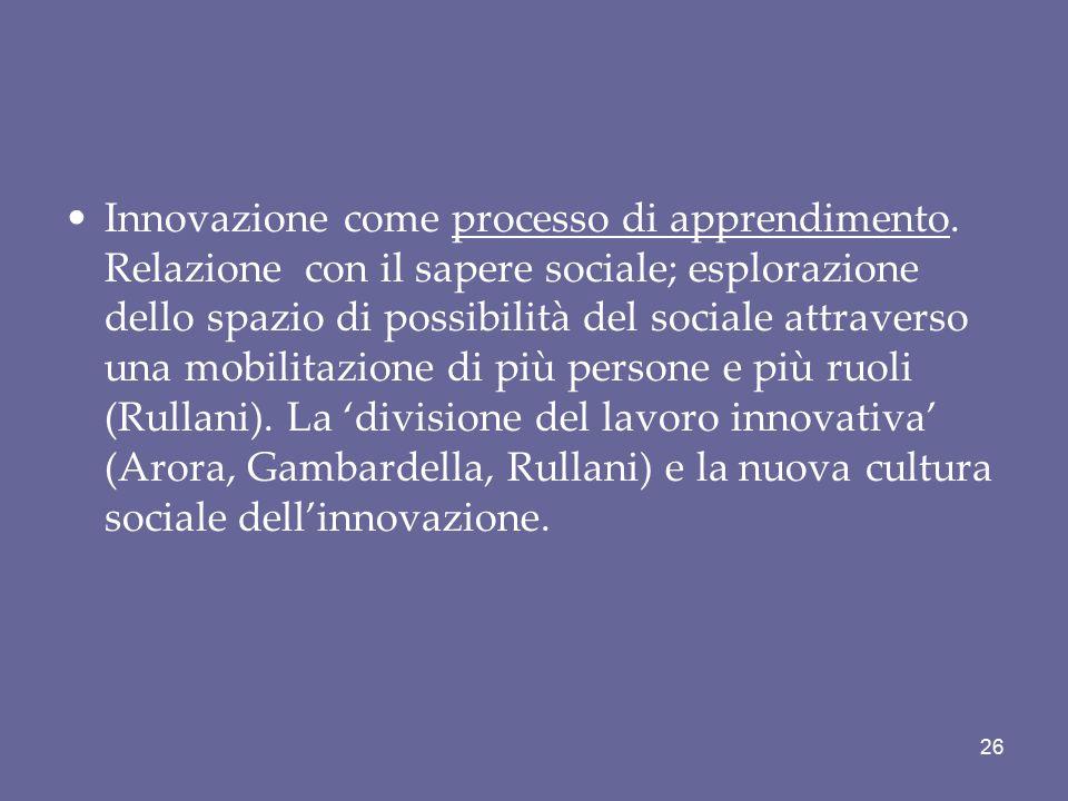 Innovazione come processo di apprendimento