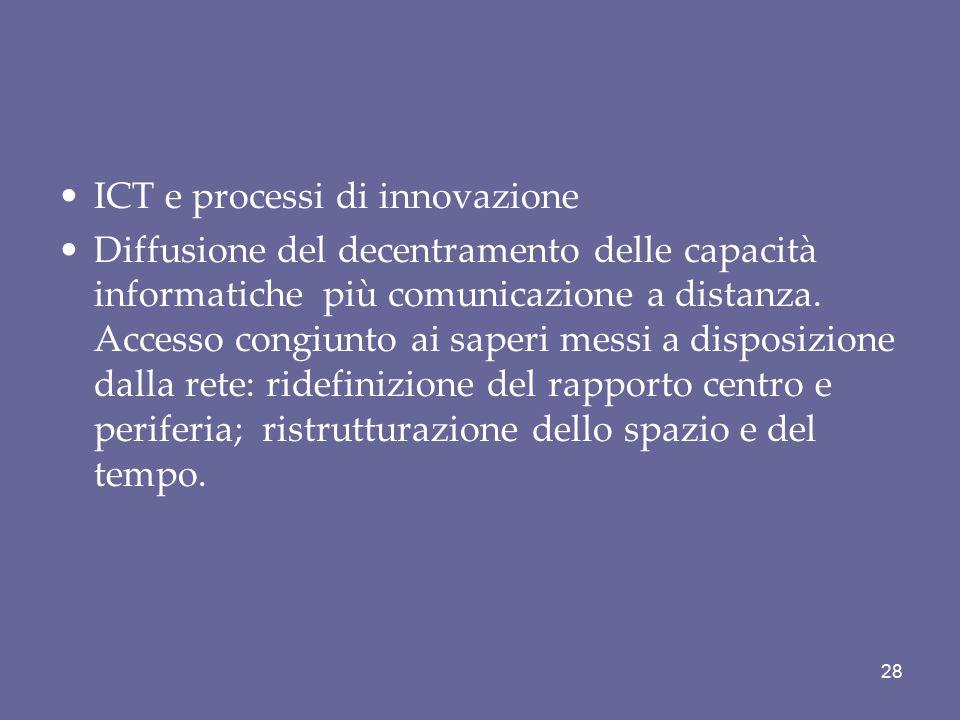 ICT e processi di innovazione
