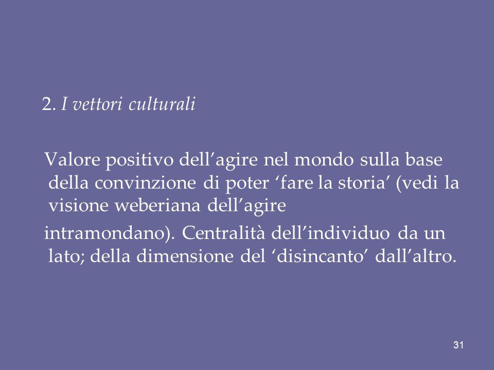 2. I vettori culturali