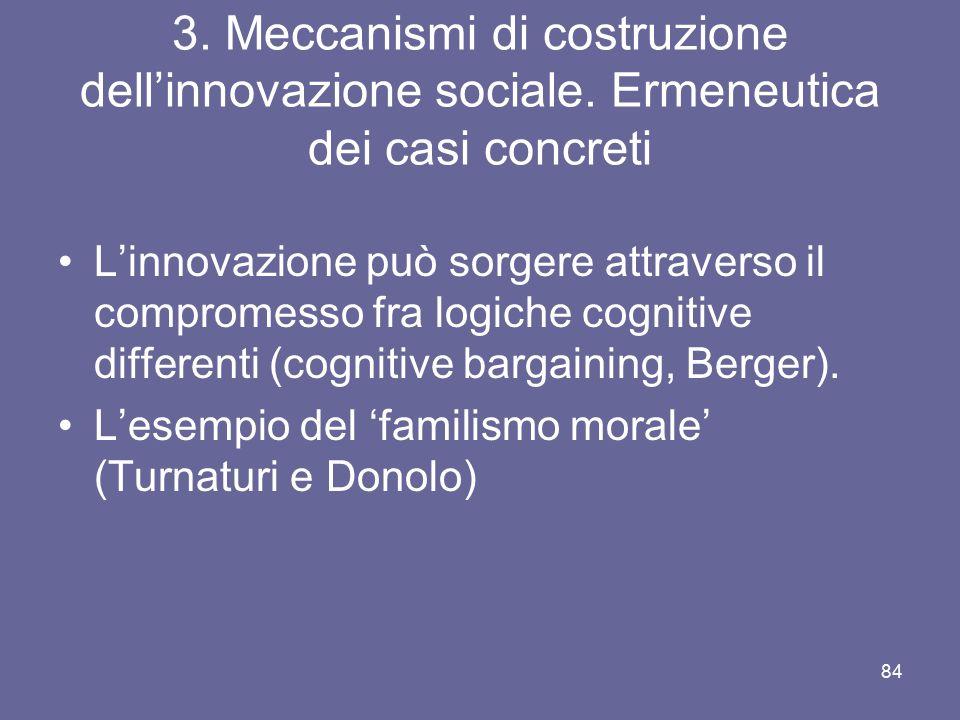 3. Meccanismi di costruzione dell'innovazione sociale
