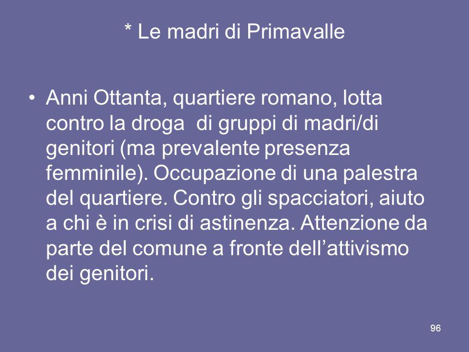 * Le madri di Primavalle