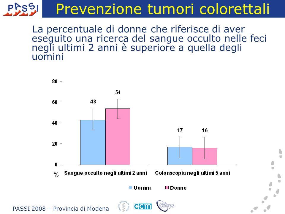 Prevenzione tumori colorettali