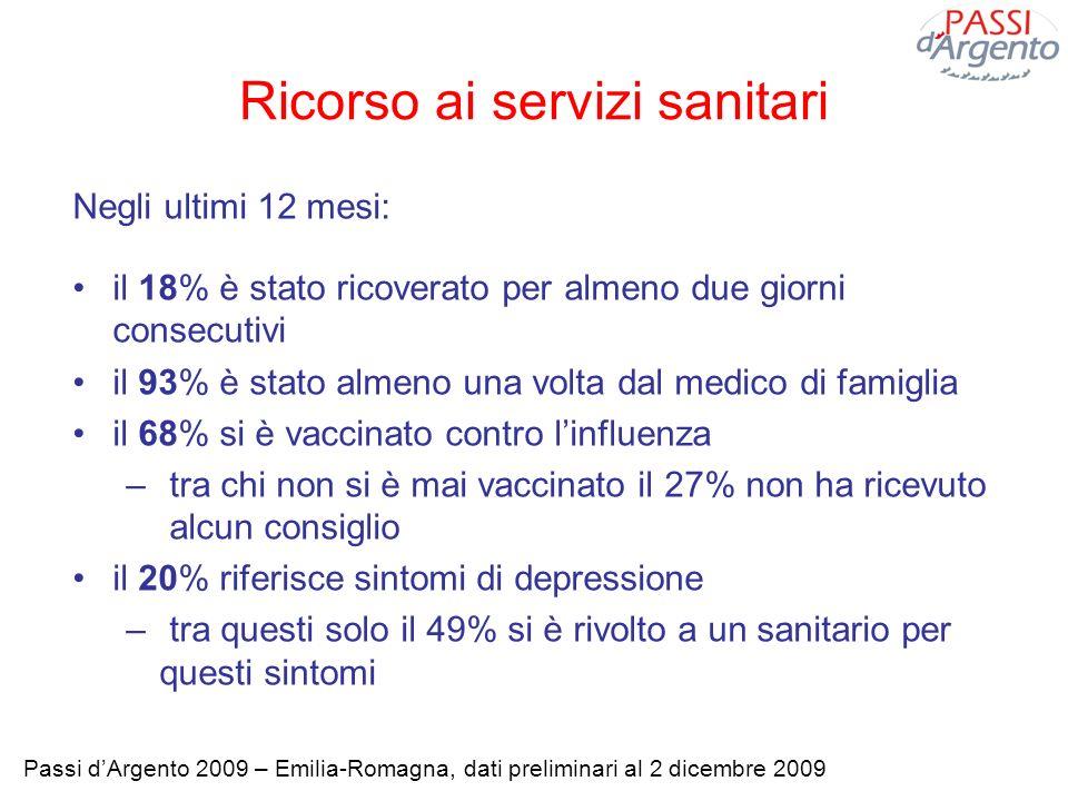 Ricorso ai servizi sanitari